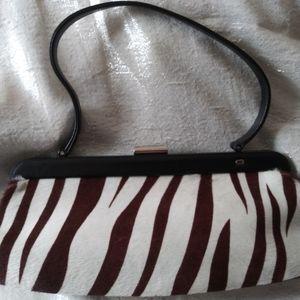 Vintage Authentic Escada Pony Hair Zebra Handbag
